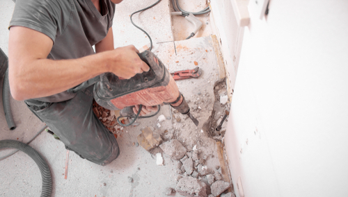 Person using power tool